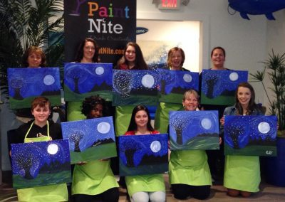 paint nite group photo